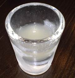 Vodka em copo congelado