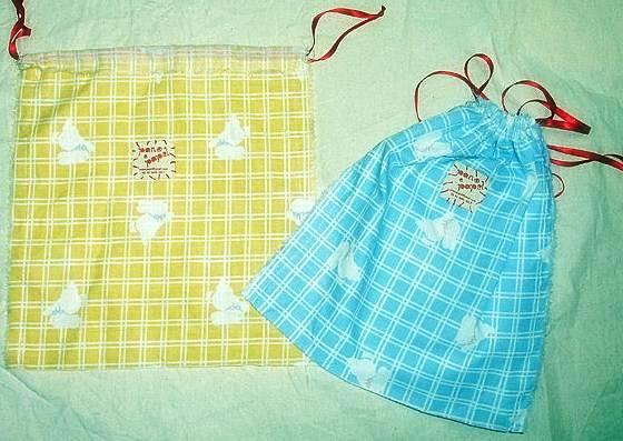 Embalagens de tecido feitos de forma artesal