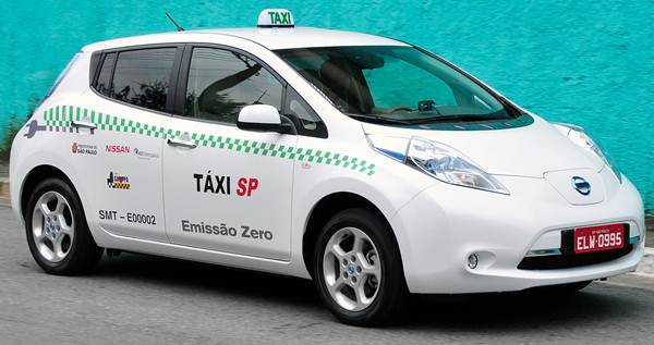Táxi da cidade de São Paulo