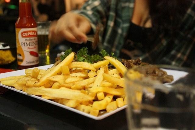 Batata frita como petiscos