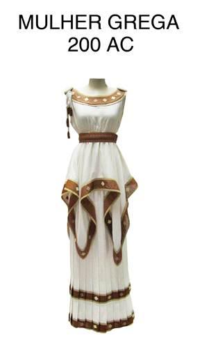 Modelo de roupa grega