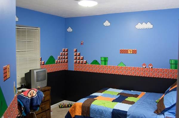 Os jogos de videogame são inspiração na hora de decorar os quartos de criança