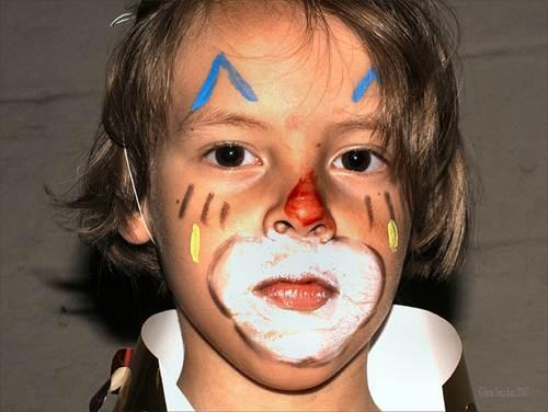 A pintura de rosto faz sucesso na festas infantis, principalmente entre as meninas