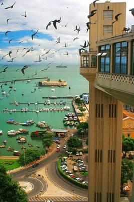 Vista do Elevador Lacerda, Salvador, Bahia