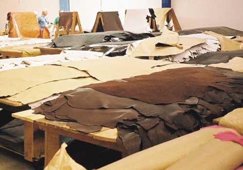 As lojas de couros vendem vários artigos como tapetes, cordas, selas e outros