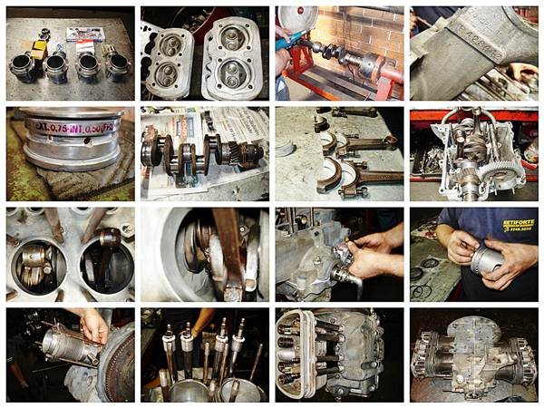 De forma geral a retífica  verifica os balancins, válvulas, motor, bomba de óleo, realiza lavagens, montagem, testes em geral, pintura e evelopamento