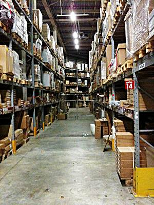 O armazenamento dos produtos fazem parte da logística