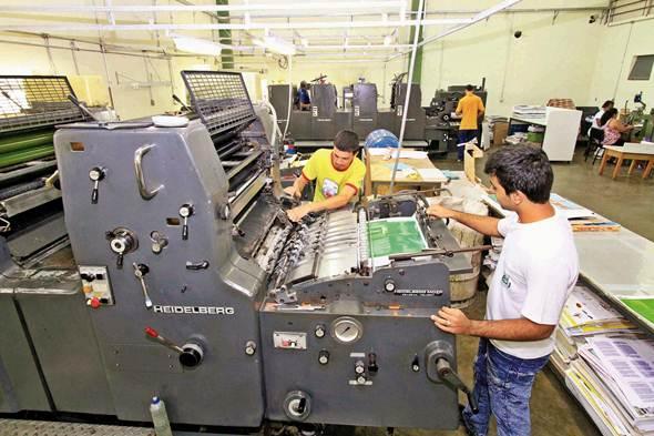 Máquina de impressão offset