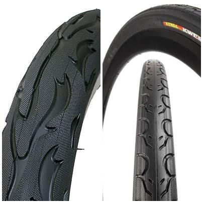 Tipos de sulcos em pneus de bicicleta