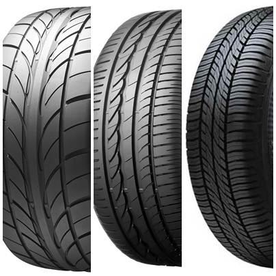 Tipos de sulcos em pneus de carro