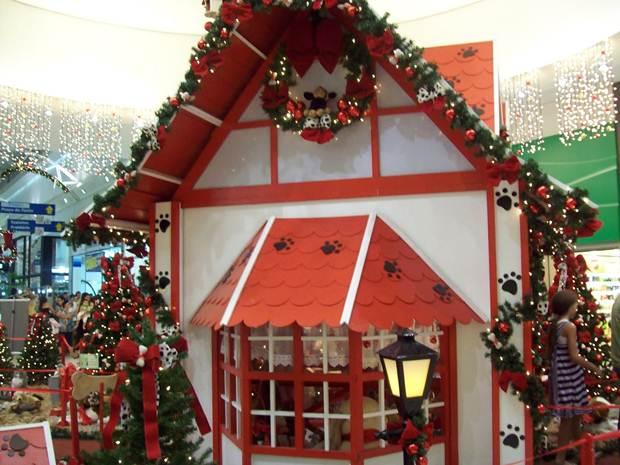 Decoração de natal no Shopping Uberaba.