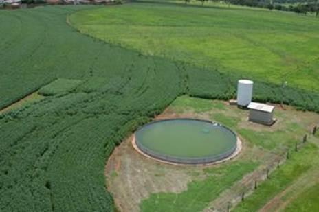 FAZU Uberaba - Visão aérea do campo de produção agrícola - soja e milho - Foto: Divulgação